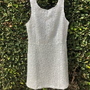 Silver heavy lace Charming Charlie dress